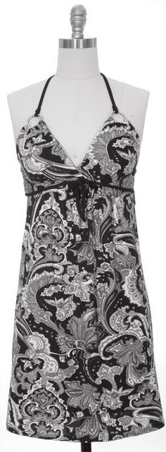 O-Ring Dress - Black Paisley~ $20.00 Shipped!  Sizes available~ 1-SM, 2-MED, 1-LG, 1-XL