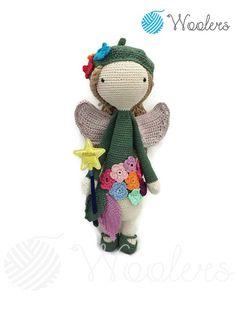 Flower Fairy inspired by Lalylala / Crochet Doll / Handmade Amigurumi / Amigurumi animal/doll von WoolersPL auf Etsy Crochet Dolls, Fairy, Teddy Bear, Etsy, Inspired, Vintage, Flowers, Handmade, Animals