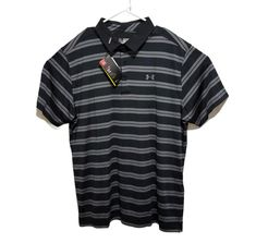 Under Armour Mens Golf Polo Shirt Size 2XL Black Gray Heat Gear UPF 30 Loose Fit #UnderArmour #PoloRugby Mens Golf Outfit, Golf Polo Shirts, Men's Shirts, Black And Grey, Gray, Under Armour, Loose Fit, Plus Size, Casual