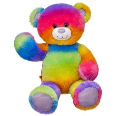 17 in. Rainbow Glitter Bear | Build-A-Bear Workshop