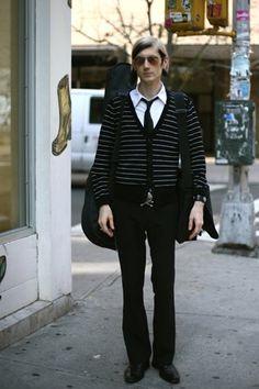 Doc Hammer: On The Street……Cardigan Rocker, Nolita « The Sartorialist