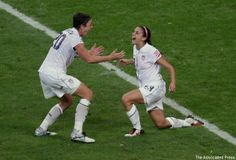 Alex Morgan, seen at right celebrating a 2011 World Cup goal, has a lot on the line in Vancouver.
