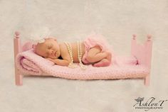 Small Traditional Newborn Photo Prop Baby Doll Posing Bed - DIY Photography Portrait. $23.00, via Etsy.