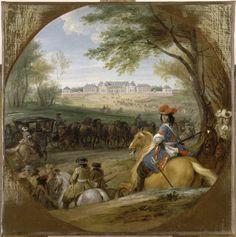 Llegada de Luis XIV a Versalles