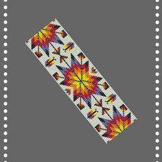Loom beading pattern for bracelet Bead loom pattern Bracelet