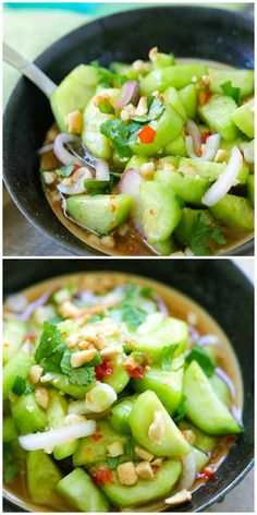 Lower Excess Fat Rooster Recipes That Basically Prime Thai Cucumber Salad - Easy And Healthy Homemade Thai Cucumber Salad Recipe That Is Better Than Your Favorite Thai Restaurants, Guaranteed Veggie Dishes, Vegetable Recipes, Vegetarian Recipes, Cooking Recipes, Healthy Recipes, Healthy Food, Healthy Salads, Thai Cucumber Salad, Cucumber Recipes