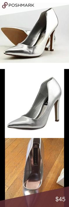 Steven by Steve Madden silver pointy pumps new Brand new never worn but no box Steven by Steve Madden Shoes Heels