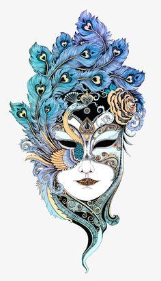 Schönes Gesicht von Rlon Wang – Illustrations: New and Old - Malvorlagen Mandala Pencil Art Drawings, Art Drawings Sketches, Mandala Drawing, Mandala Art, Mask Drawing, Tangle Art, Masks Art, Pen Art, Mandala Design