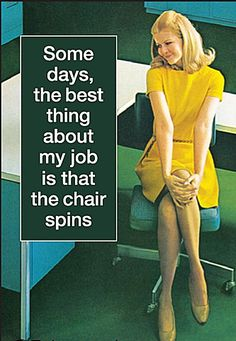 Some Days, The Best Thing About My Job...Chair Spins Funny Fridge Magnet (Ep)