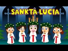 Lucy's Day) – a feast of candlelit processions, saffron buns, mulled wine and talking animals. Lucia is cel. Lucia Sweden, Kwanzaa, Hanukkah, Sankta Lucia, St Lucys, Santa Lucia Day, Talking Animals, Teaching Kindergarten, Teaching Ideas