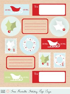 Awesome roundup of printable gift tags. Makes me want to do all of my wrapping all over again!