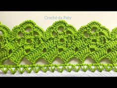 Bico de Crochê Carreira Única FÁCIL#187 - YouTube Crochet Hot Pads, Crochet Lace Edging, Bobble Stitch, Crochet Videos, Diy And Crafts, Crochet Earrings, Projects To Try, Lily, Mandala