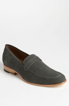 Shipley & Halmos Grey Suede Penny Loafers Size 9 $250 - Grailed