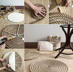 Seus espaços ficarão com uma decoração linda com este tapete feito com corda