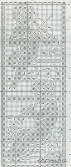 I currently have a lot of work and very little time. I will contact you by post or shortly after Easter. I hope you are well. I would be happy to see you again . Filet Crochet, Crochet Motifs, Crochet Chart, Crochet Doilies, Crochet Stitches, Cross Stitch Angels, Cross Stitch Charts, Cross Stitch Patterns, Lace Patterns
