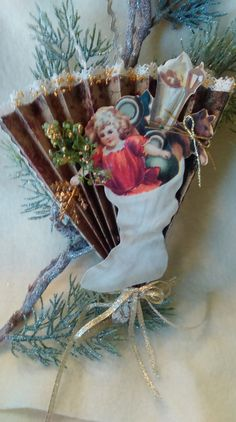 A Chirstmas ornament that is handmade and one by TheresaSnowBound