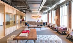 Studio O+A have designed the headquarters for Yelp! in San Francisco.