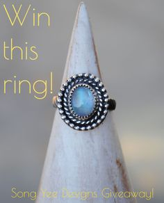 Enter to win this gorgeous $85 moonstone ring from Song Yee Designs!