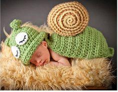 Jastore ® Foto Fotografie Prop Baby Kostüm grüne Schnecke häkel Stricken Handarbeit: Amazon.de: Baby