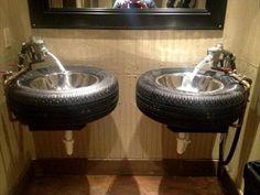 #Bathroom #Vanities - 9 DIY Reused Tire Projects | DIY Recycled More