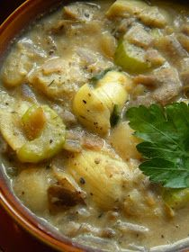 """Meet The Shannons: The Betty Crocker Project : Vegan New England """"Clam"""" Chowder made with Oyster Mushrooms & Artichoke Hearts"""