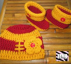USC Trojans Baby Beanie and Booties Set