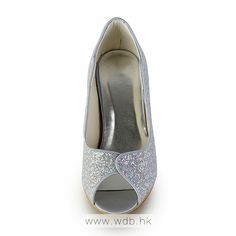 """Silver Attractive 3"""" & Peep-toe Pumps -Party / Special Occasion shoes (2 Colors)  $112.98"""