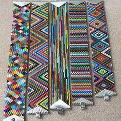 Beaded Braclets, Seed Bead Bracelets, Loom Bracelets, Bracelets For Men, Seed Beads, Beaded Jewelry Patterns, Beading Patterns, Peyote Beading, Bead Crochet