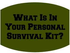 My Personal Survival Kit ~ X-tremely V #mancrates