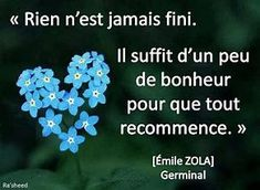 Rien n'est jamais fini... French Words, French Quotes, Emile Zola Germinal, Good Quotes For Instagram, French Expressions, Pick Me Up, Positive Attitude, Zen Attitude, Powerful Words