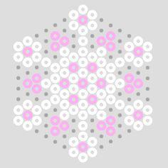 Bügelperlen - Schneestern Mehr