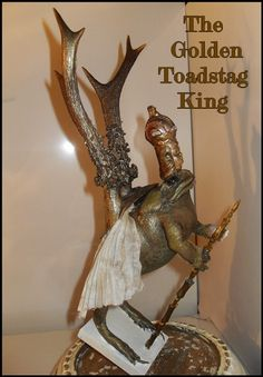 The Golden Toadstag King (aureousbufostag) Faux Taxidermy, Vintage Children, Rogues, Victorian, King, Vintage Kids