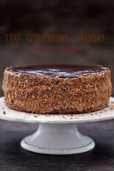 Chocolate - coffee cake with plum jam My pastries Torte Cake, Fudge Cake, Brownie Cake, Polish Desserts, Cookie Desserts, Dessert Recipes, Lemon Cheesecake Recipes, Tasty Chocolate Cake, Chocolate Coffee