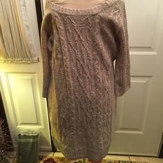 Sweater dress Size large Nwt Pink Rose Dresses Long Sleeve