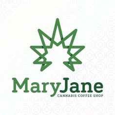 Mary+Jane+logo  #logo, #mark, #weed, #hemp, #marijuana, #pot, #plant, #grow
