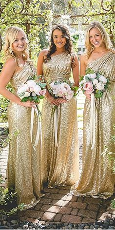 One Shoulder Sequin Bridesmaid Dresses f878d8a0267d