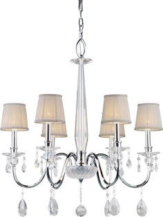 View the Forte Lighting 4009-06 6 Light 1 Tier Chandelier with Cone Shaped Shades at LightingDirect.com.