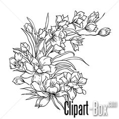 CLIPART FLOWER SKETCH