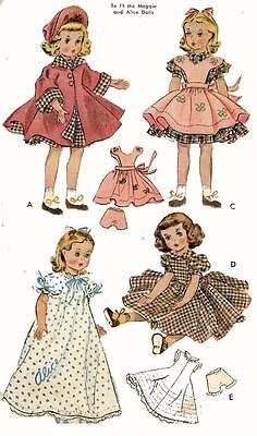 free vintage doll clothes patterns - Google Search