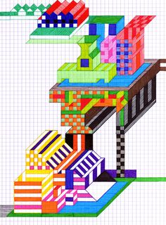 Julien Lanza   Checkerboard Walls and Striped Walkways inspiration