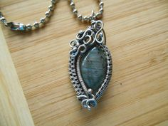 Sterling Silver Labradorite Wire Wrapped Weave by OurFrontYard