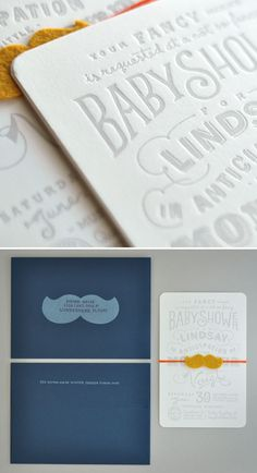 Adorable baby shower invites with great lettering