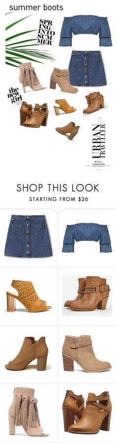 """""""Summer booties // contest👡"""" by jodiemccrea ❤ liked on Polyvore featuring Lacoste L!VE, WearAll, JustFab, Hollister Co., Sole Society, Chloé, Frye, Summer, summerstyle and summerbooties"""
