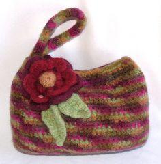 Felt Crochet Bag