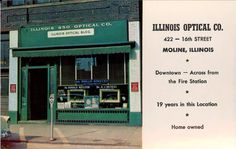Illinois Optical Company circa 1957.  We still have an optical chair in the basement!