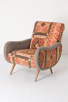 I just love this!  too feminine? Zoey Patchwork Armchair #anthropologie