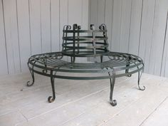 Antique Wrought Iron Round Garden Tree Seat ,tree seat,bench,seat,Antique,wrought,iron,reclamation,reclaim,salvage,cannock wood,staffordshir...