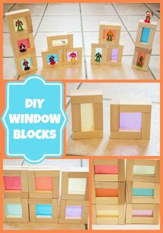#DIY Blocks for kids to play with! Create your own colored window blocks with just a few inexpensive materials (so smart!)