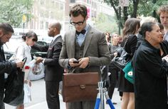 Chanel briefcase; Brad Goreski.