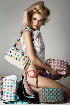 Knitted Bags From Greece With Love-V&R - Pearls To A Picnic